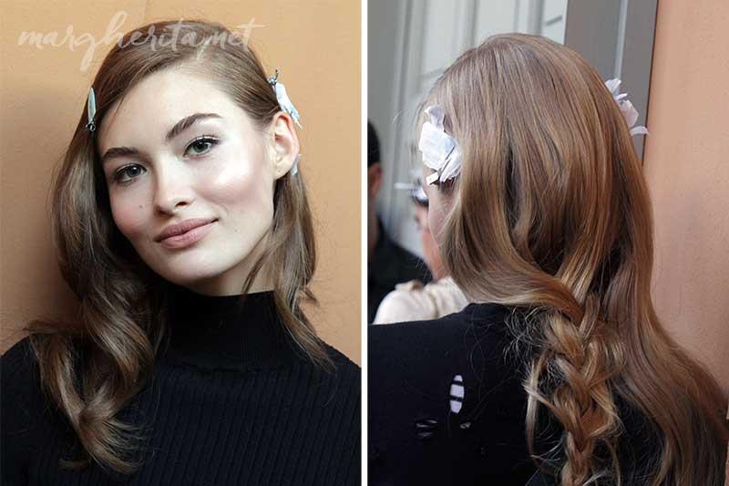 Le tendenze capelli donna per il 2017 - Backstage Ermanno Scervino PE2017