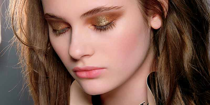 Make-up autunno inverno 2017/2018 Trucco metallico