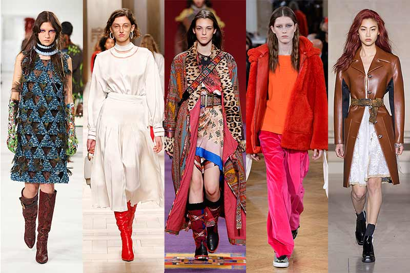Moda autunno inverno 2017 2018. L'ABC delle tendenze moda 2018 Maison Margiela, Fendi, Etro, Paul & Joe, Louis Vuitton