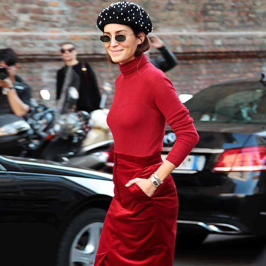 Streetstyle. Il colore di moda rosso