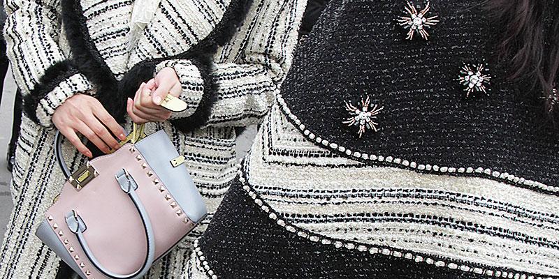 Moda & street style. Il bianco e nero alla Coco Chanel