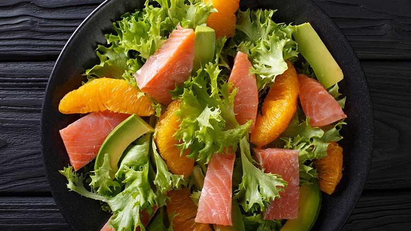 Insalata di arance e salmone affumicato - Le ricette di cucina di Margherita.net