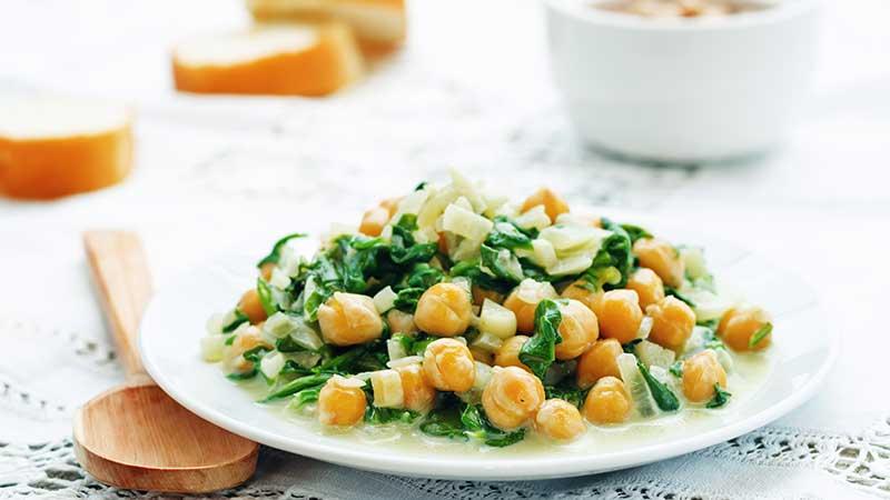 Insalata di ceci e spinaci - Le ricette di cucina di Margherita.net