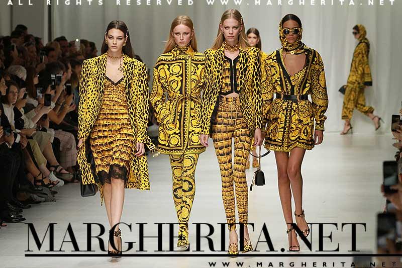 Colore di moda: il giallo. Versace PE 2018. ph. Mauro Pilotto