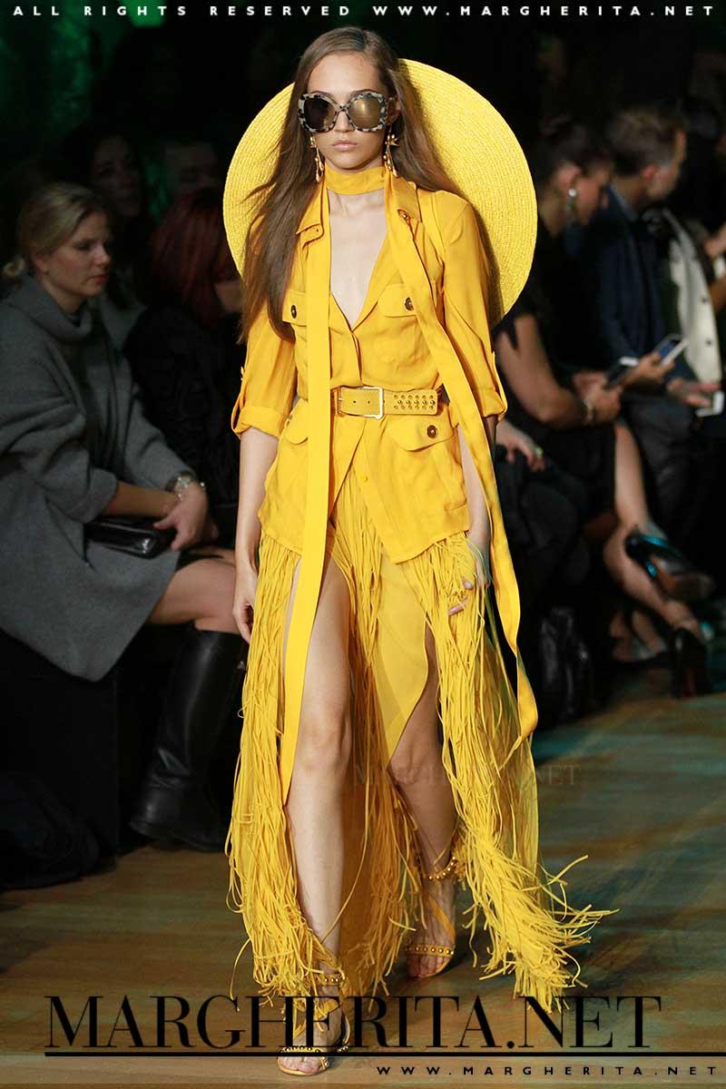Colore di moda: il giallo. Elie Saab PE 2018. ph. Mauro PIlotto
