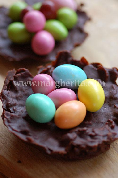 Nidi al cioccolato per Pasqua