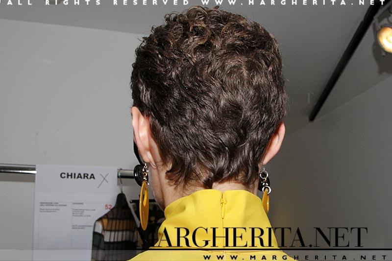 Idee capelli 2019. Taglio di capelli corti. Pixie cut backstage da Daks estate 2019