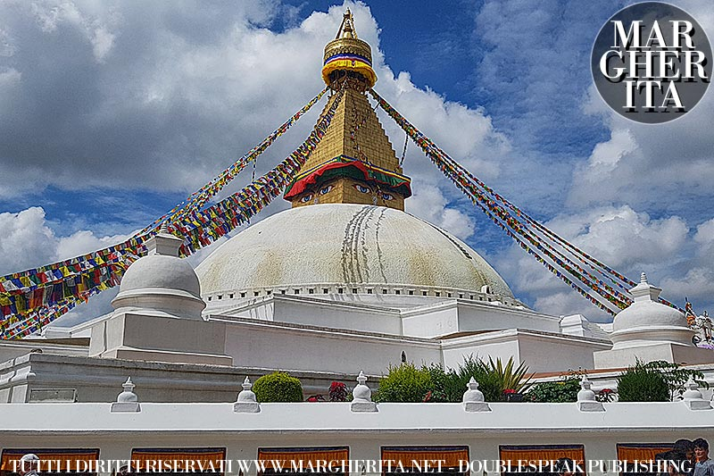 Kathmandu, Nepal. Tempio di Boudhanath
