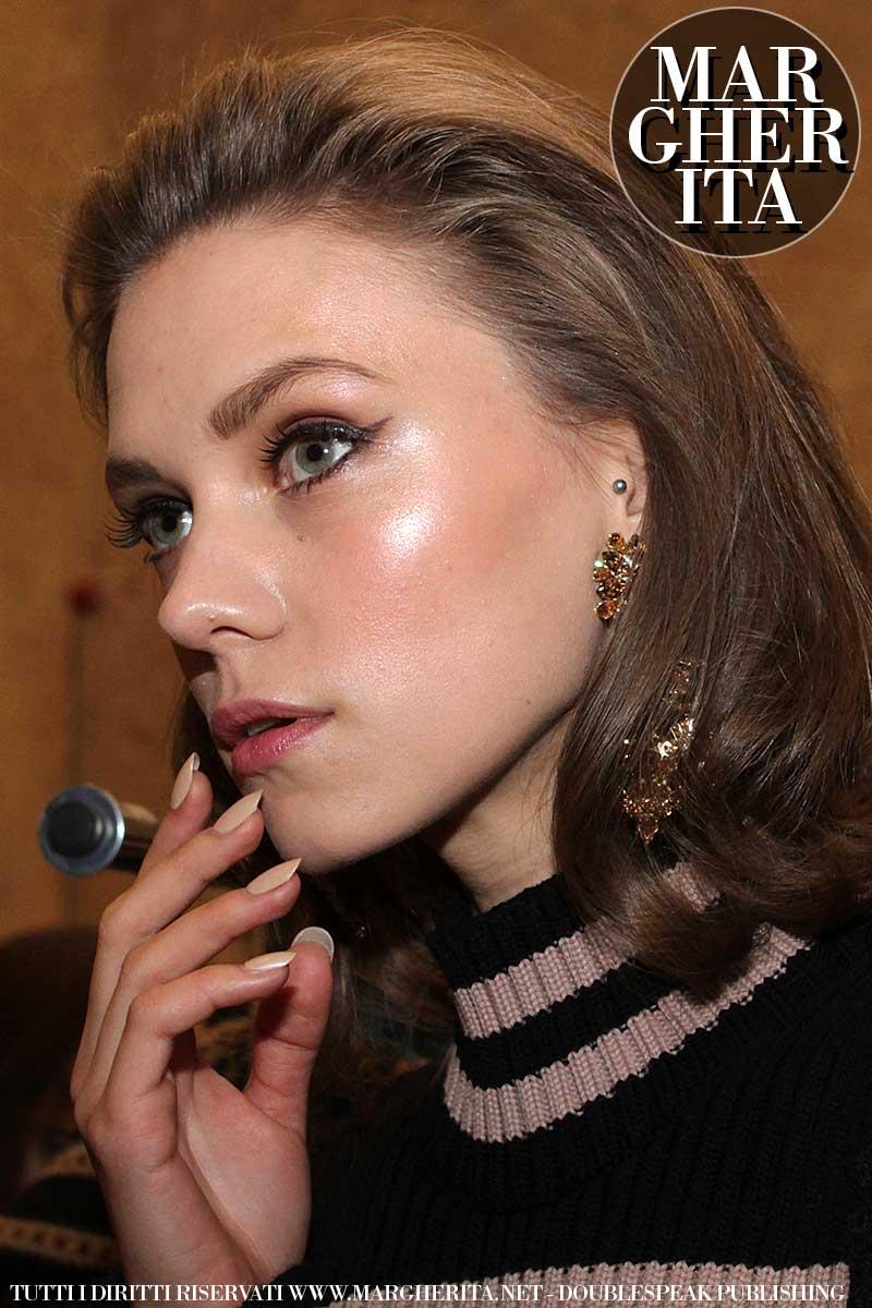 Trucco occhi. Sfilata: Les Copains AI 2018 2019. Make-up: Michele Magnani per M.A.C