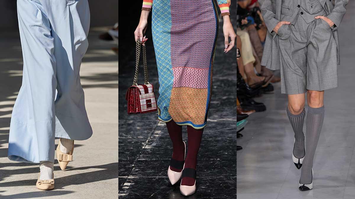 Tendenze scarpe primavera estate 2020 - Da sinistra a destra: Salvatore Ferragamo, Antonio Marras, Max Mara