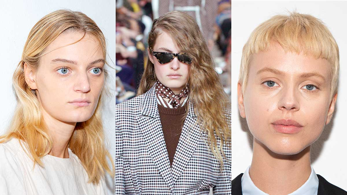 Nuove tendenze moda capelli per l'estate. Ecco i tagli di capelli per l'estate 2020, per chi ha i capelli sottili - Da sin a dx: Arthur Arbesser, Michael Kors, Arthur Arbesser