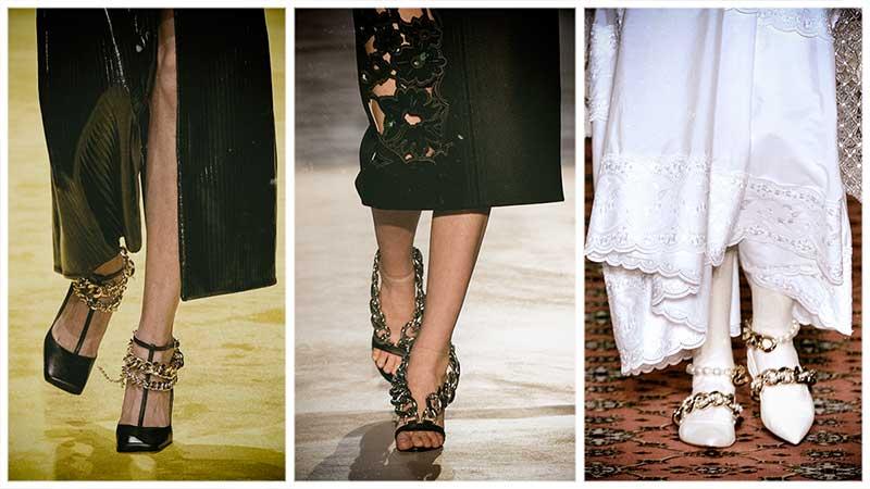 Tendenze scarpe autunno inverno 2020 2021. Scarpe e stivali con le catene