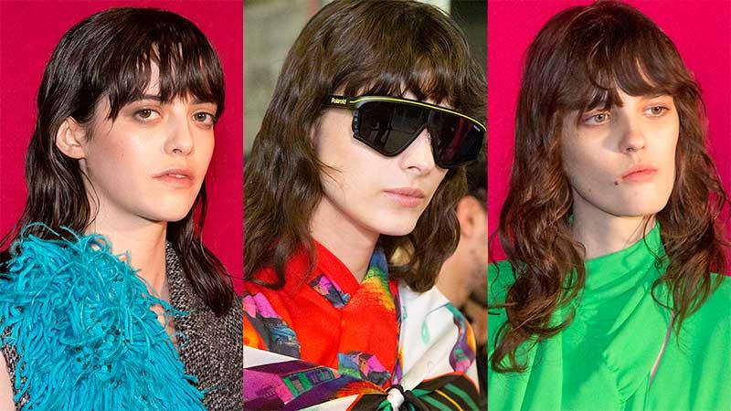 Tendenze capelli donna, la moda capelli autunno inverno 2020 2021. Lo shag è trendy! - Sfilata MSGM - Foto Charlotte Mesman