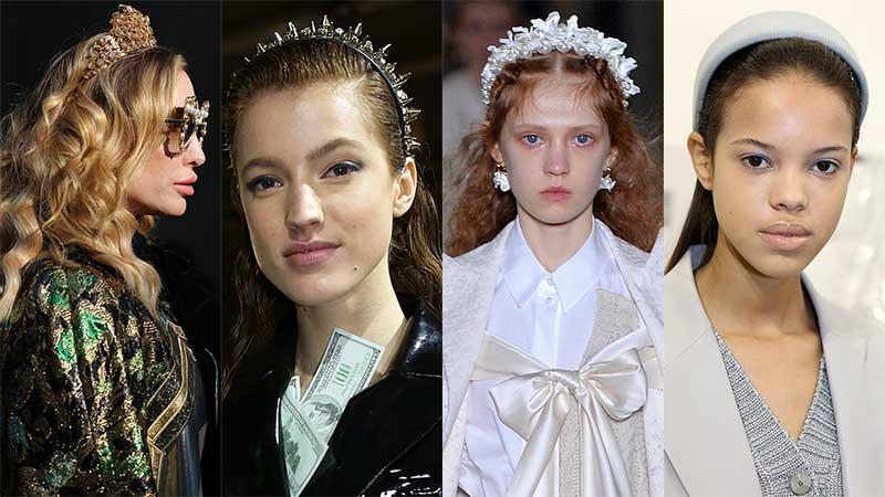 Accessori moda donna inverno 2020 2021. Cerchietti per capelli luccicanti, bellissimi, divertenti