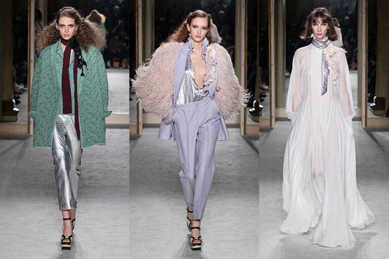 Idee e tendenze moda inverno 2020 2021. Feste in argento? Cosa ne pensate? Ecco i consigli di stile - Sfilata Philosophy by Lorenzo Serafini