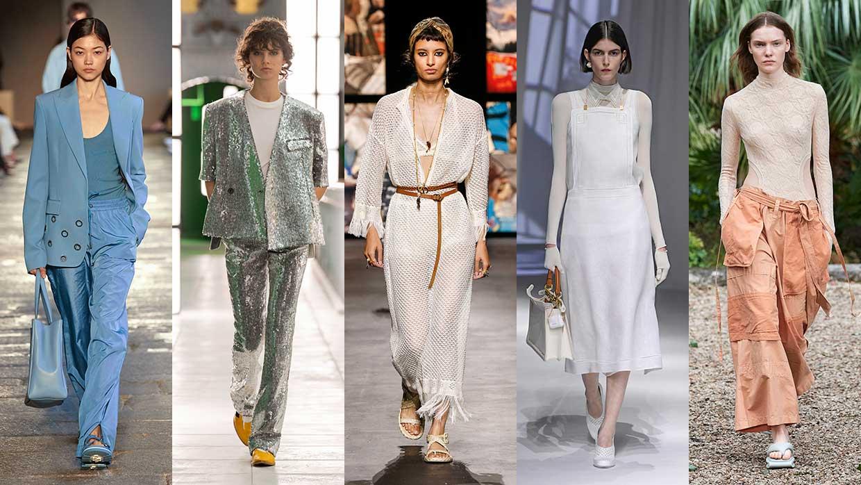 Tendenze moda 2021. Ecco le tendenze moda che continueremo a vedere nel 2021 - Foto da sin a dx: Boss, Louis Vuitton, Dior, Fendi, Kenzo