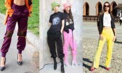 Tendenze moda street style donna 2021. I tacchi da portare sotto i pantaloni della tuta. Ecco come fare!