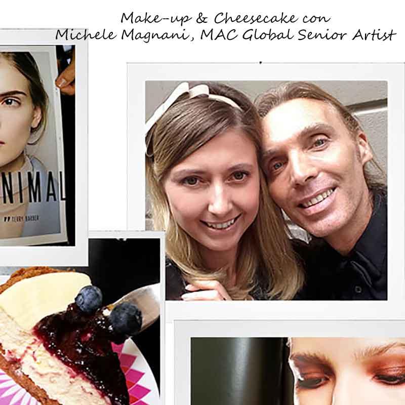 Michele Magnani - MAC Global Senior Artist -e Charlotte Mesman dopo un'intervista e un tè con cheescake...