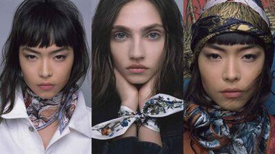 Moda donna autunno inverno 2021 2022. Ispirazione Dior: ecco come portare il foulard