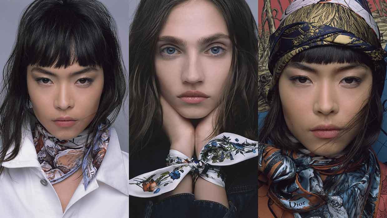Moda donna autunno inverno 2021 2022. Ispirazione Dior: ecco come portare il foulard - Photo Courtesy of Dior