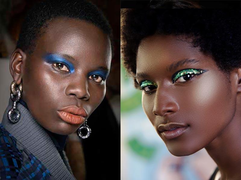 Nuovi trend trucco autunno inverno 2021 2022. Make-up trend NIGHTCLUBBING – DRESSED UP. Photo: courtesy of MAC Cosmetics