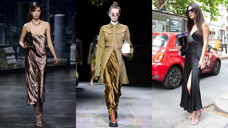 7 motivi per indossare uno slip dress. Abiti sottoveste di tendenza per la moda autunno inverno 2021 2022 - Photo courtesy of Fendi, Sportmax, Charlotte Mesman