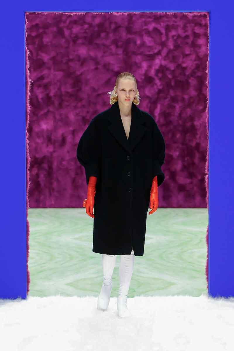 I colori della moda donna autunno inverno 2021 2022. Foto courtesy of Prada