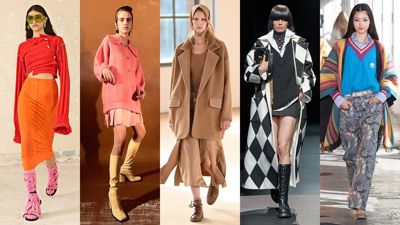 I colori della moda donna autunno inverno 2021 2022. Foto Acne Studios, Vivetta, Max Mara, Valentino, Etro